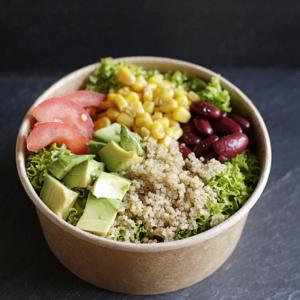 Salat_mexikanisch_Bohnen_Avocado_Quinoa_Blattsalat_Mais_Bäckerei_Basel